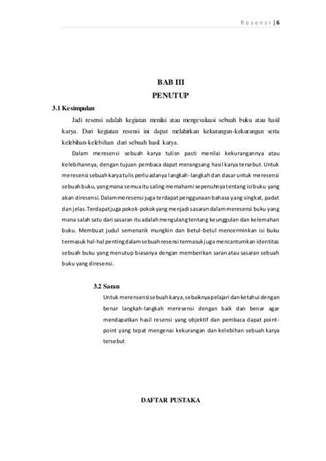 membuat makalah resensi makalah bahasa indonesia iain syekh nurjati