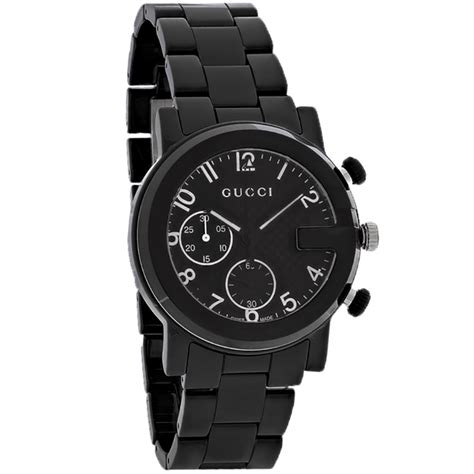 Guc Ci Ceramic Black gucci 101 g chronograph mens black ceramic swiss quartz