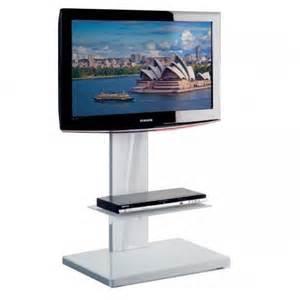 meuble tv pied support tv sur pied munari sydney sy360 blanc reactiv it