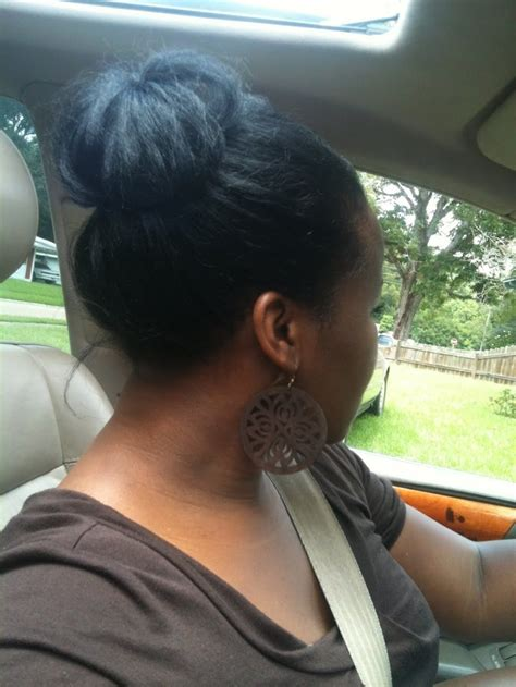 relaxed hair protective styles for high foreheads protective style bun no add in started with foam roller