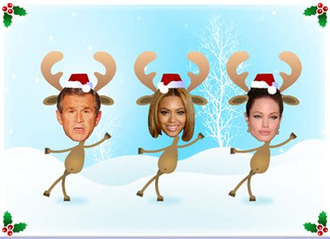 photoshop card templates place faces into reindeer cards insert your best business cards