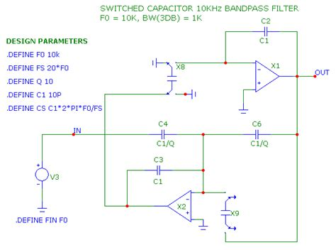 switched capacitor filter sine wave switched capacitor bandpass filter design 28 images bandpass filter switched capacitor