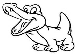 Drawing Baby Crocodile Coloring Page  Sun sketch template