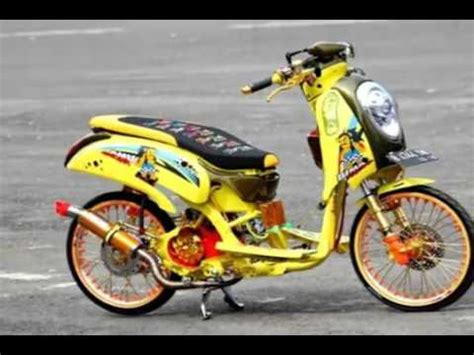 Lu Proji Motor Beat projector retrofit honda scoopy mh1 and 40w hpl funnydog tv
