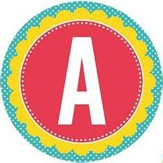 printable letters in circles free party printables on pinterest party printables