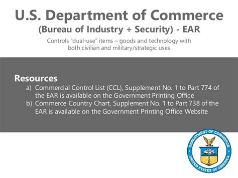 supplement 1 to part 774 of the ear export compliance keeping you safe solvent out of trouble