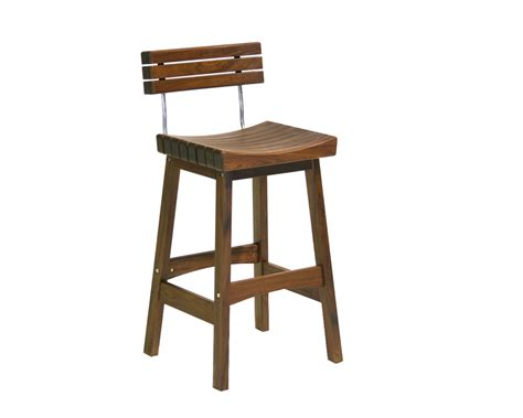 Wooden Bar Stool With Back Solid Wood Bar Stool With Back And Metal Combo Decofurnish