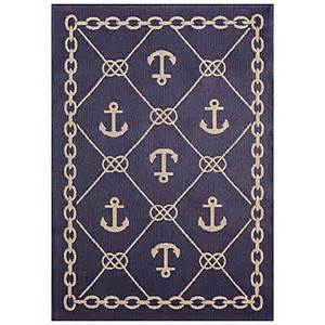 Nautical Bathroom Rugs Buy Miami Anchor 7 Foot X 10 Foot Indoor Outdoor Rug From Bed Bath Beyond