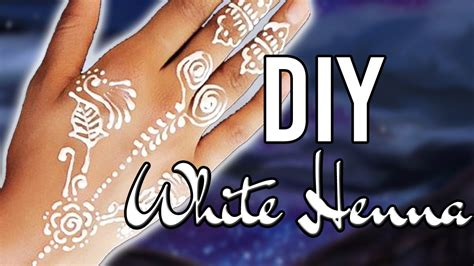 easy diy white henna only 2 ingredients youtube