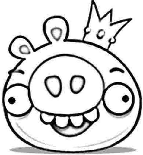 angry birds king pig coloring pages coloring kids