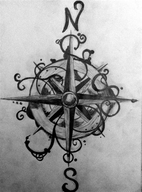 rose wind tattoo 17 best ideas about anchor compass on