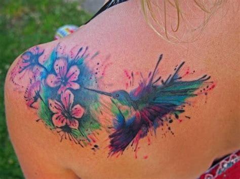 tattoo hummingbird flower splatter hummingbird tattoo custom hummingbird with