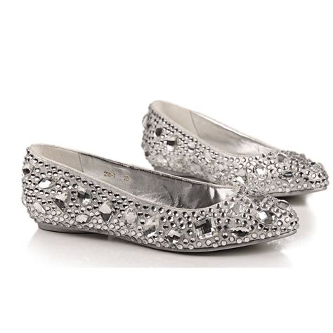 shoes silver flats wedding flats and ballerinas for brides wardrobelooks