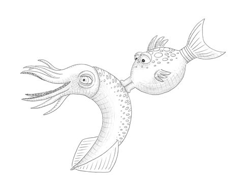 free coloring pages of pout fish