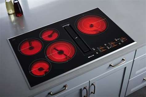 jenn air cooktop jed4536gb jenn air 36 quot electric downdraft cooktop w touch controls black