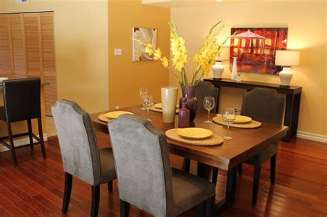 yellow dining rooms violet and yellow transitional dining room eclectic