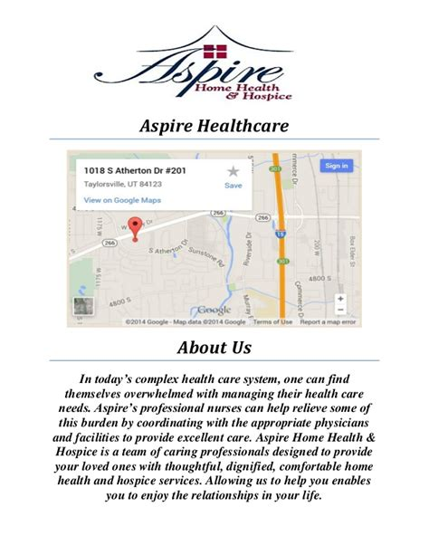 aspire healthcare in home senior care