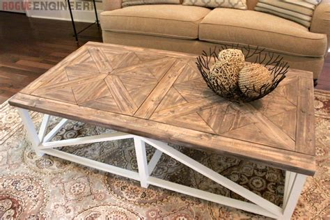 reclaimed oak parquet coffee table diy parquet x brace coffee table free plans rh inspired