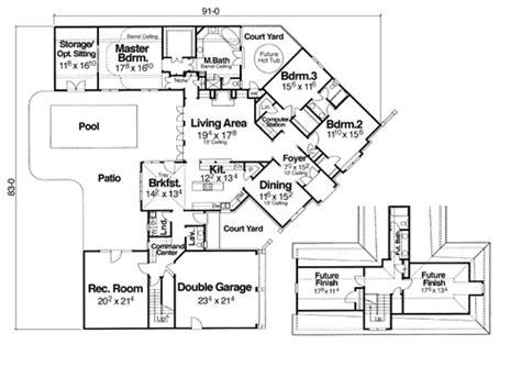 cul de sac floor plans winthrop 5839 3 bedrooms and 2 baths the house designers