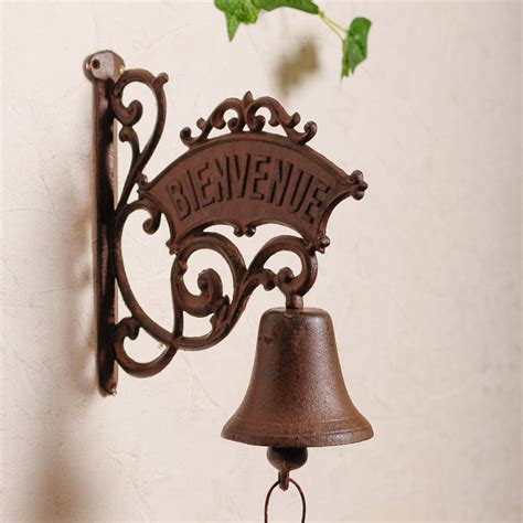Bell Door bienvenue antique door bell by dibor notonthehighstreet