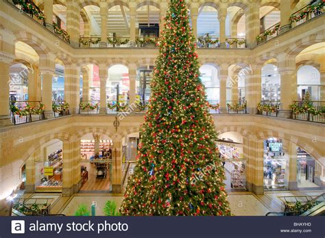 amsterdam indoor shopping mall magna plaza with christmas