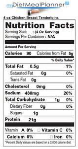 protein in 4 oz chicken breast tenderloins nutrition