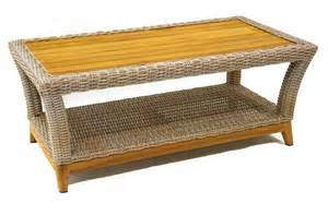 Wicker Coffee Table Wicker Teak Outdoor Coffee Table