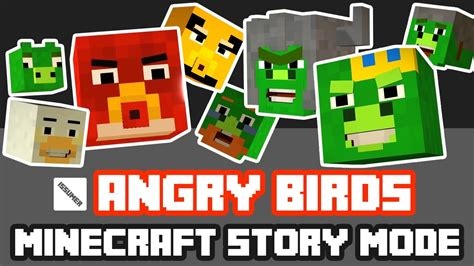 ps3 themes minecraft story mode play as angry birds red full angry birds theme minecraft
