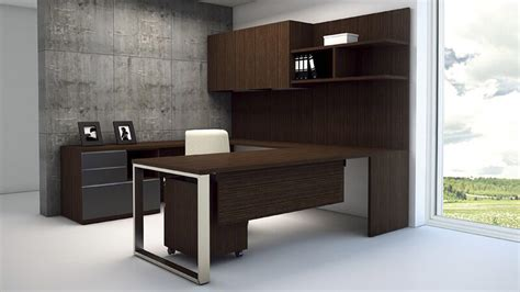 desk modern modern at two u shaped desk with multifile wengue congo