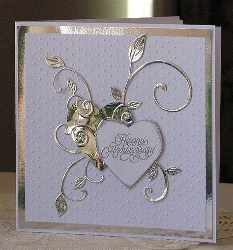 Handmade Silver Wedding Anniversary Cards For Husband - handmade silver wedding anniversary cards for husband 28