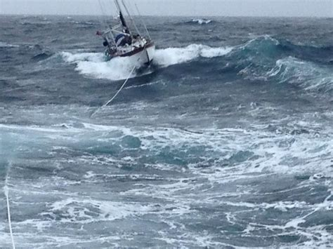 dramatic video  pictures show rnli yacht rescue  gale conditions ybw