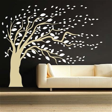 trendy wall designs blowing tree wall art design trendy wall designs