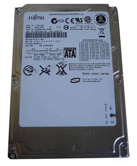 Harddisk Fujitsu fujitsu drive 160gb 4200 rpm mhv2160bt