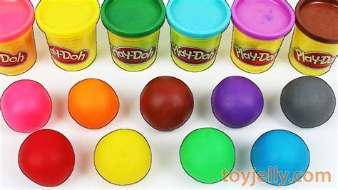 play doh colors learn colors play doh balls disney peppa pig molds tayo
