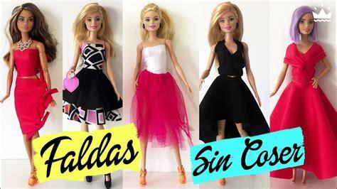 como hacer ropa para barbie c 243 mo hacer faldas para barbie 161 sin coser ropa para