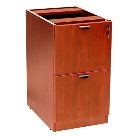 2 drawer vertical wood file cabinet in cherry n176