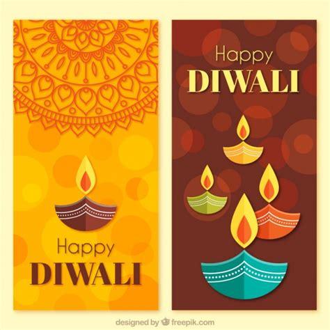 banner design deepavali diwali banners in flat design vector free download