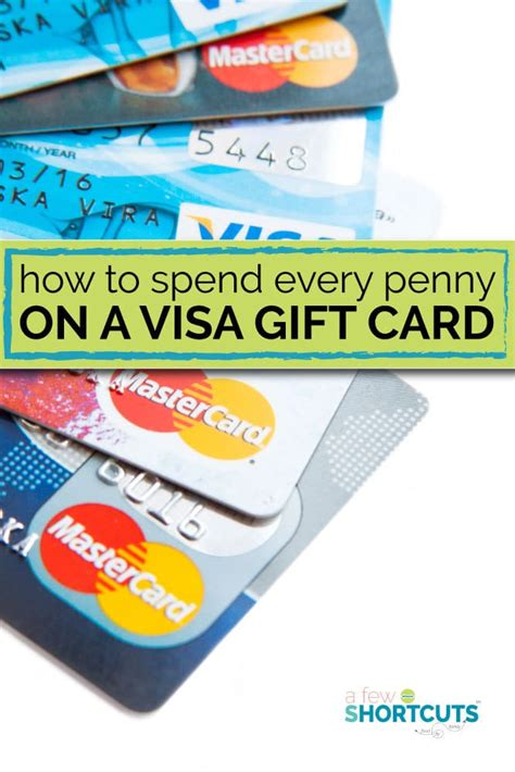 Visa Gift Card Balance Debit - how to spend every penny on a visa gift card a few shortcuts