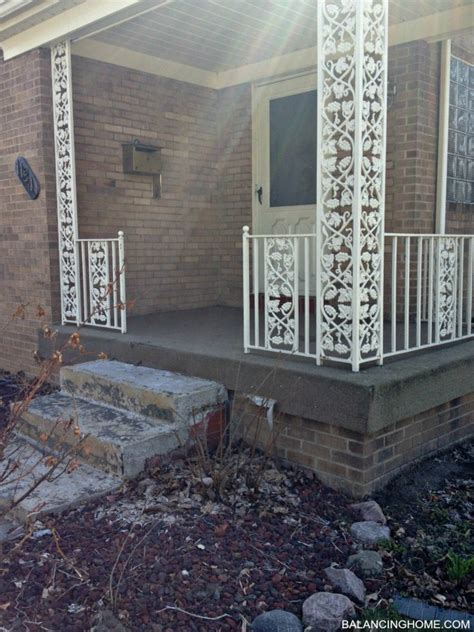 screened porch makeover rough concrete floor porch makeover details balancing home with megan bray