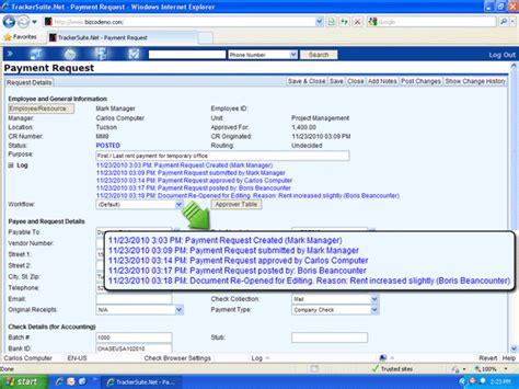 request tracker workflow track payment request workflow using activity logs with