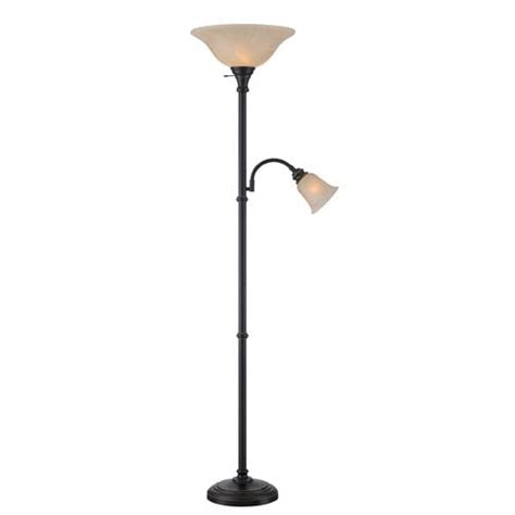 fluorescent torchiere floor l henley dark bronze fluorescent two light floor l lite