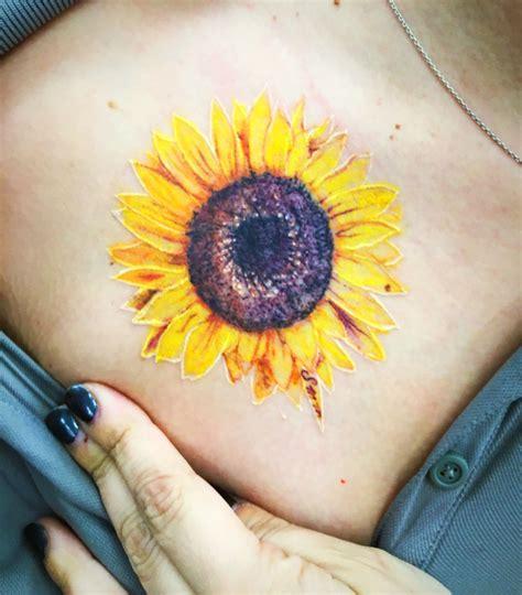 small sunflower tattoo on wrist sunflower sunflowers