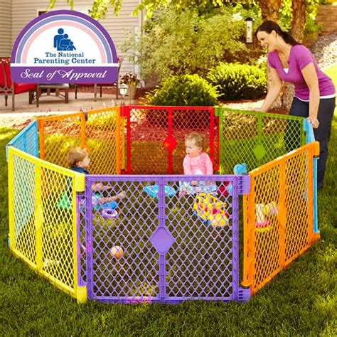 colorful baby gate states superyard colorplay 8 panel