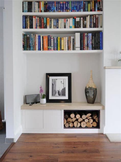 dad built this living room shelf alcove shelves houzz