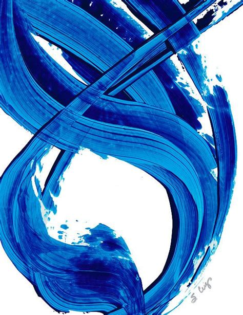blue and white painting blue white painting abstract minimalist minimal minimalism simple high contrast water
