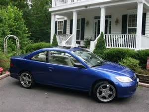 purchase used blue 2004 honda civic ex coupe 2 door 1 7l