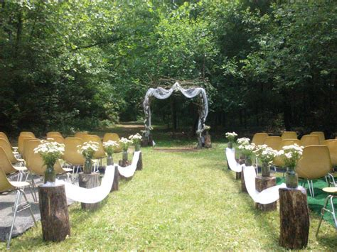 outdoor wedding ceremony decoration ideas on a budget handcrafted occasions budget rustic outdoor wedding