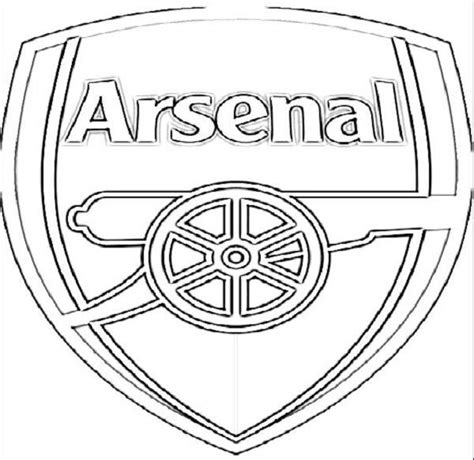 Arsenal Football Logo Coloring Pages Free Coloring Pages Football Logo Coloring Pages