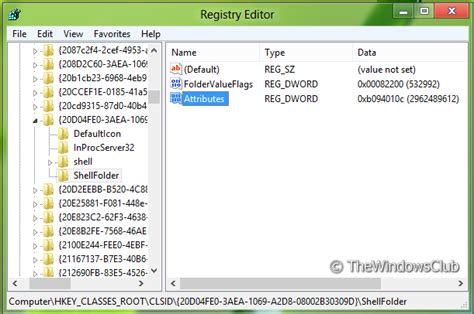 my windows computer tells me that registry key software remove computer link in windows explorer navigation pane