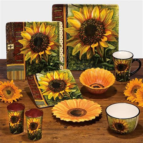 warm sunflower kitchen decor